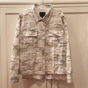 Sanctuary camouflage jeans jacket. NWT. Large.